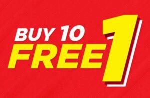 buy 10 free 1